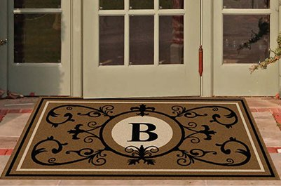 Edinburgh Estate Doormat - Monogrammed Suede B 3 x 5