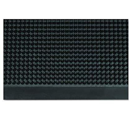 Mat-A-Dor Entrance/Antifatigue Mat, Rubber, 36 x 72, Black
