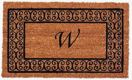Monogram Charleston Border Doormat - W - 22 x 36