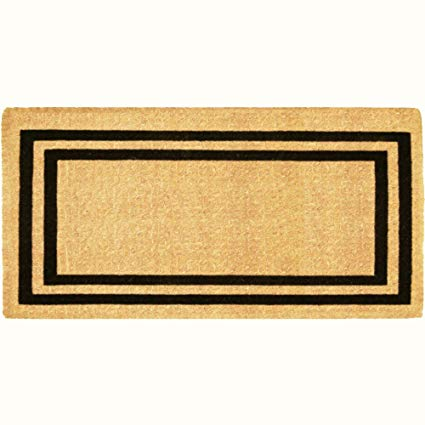 Luxury Coir Blank Non-Personalized - Double Picture Frame (Black) 36 x 72