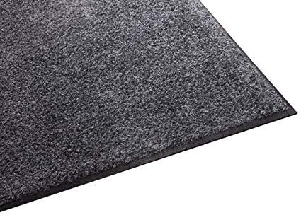Guardian Platinum Series Indoor Wiper Floor Mat, Rubber with Nylon Carpet, 5'x16', Grey