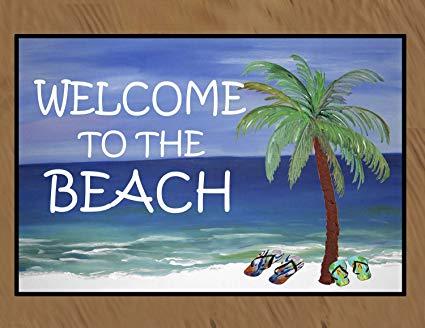 Welcome to the Beach Floor Mat (24 x 36)