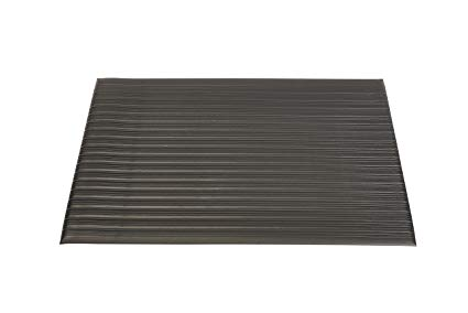 Genuine Joe Anti-Fatigue Mat with Vinyl Foam, Beveled Edge, 3 by 12-Feet, Black