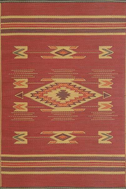 Mad Mats® Navajo Indoor/Outdoor Floor Mat, 5 by 8-Feet, Dark Red