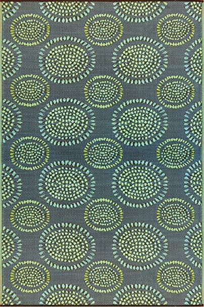 Mad Mats® Molly Indoor/Outdoor Floor Mat, 5 by 8-Feet, Black Aqua