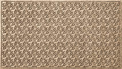 Bungalow Flooring Waterhog Doormat, 3' x 5', Skid Resistant, Easy to Clean, Catches Water and Debris, Dogwood Leaf Collection, Khaki/Camel